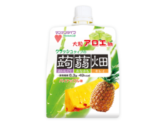 大粒アロエin クラッシュタイプの蒟蒻畑 パイナップル味
