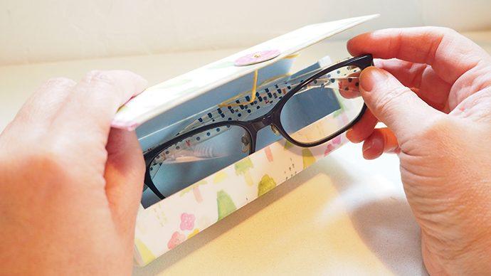 【マステ活用術】春色メガネケースの手作りアイデア