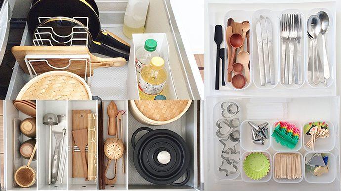 【収納上手にランクアップ】キッチンの引き出し収納アイデア