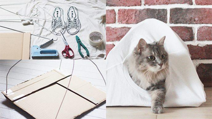 Tシャツでできる!ネコ用テントの作り方