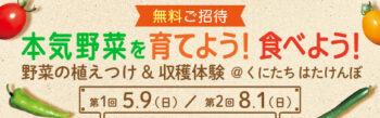 【無料】親子でご招待!「本気野菜」を育てよう!食べよう!体験イベント